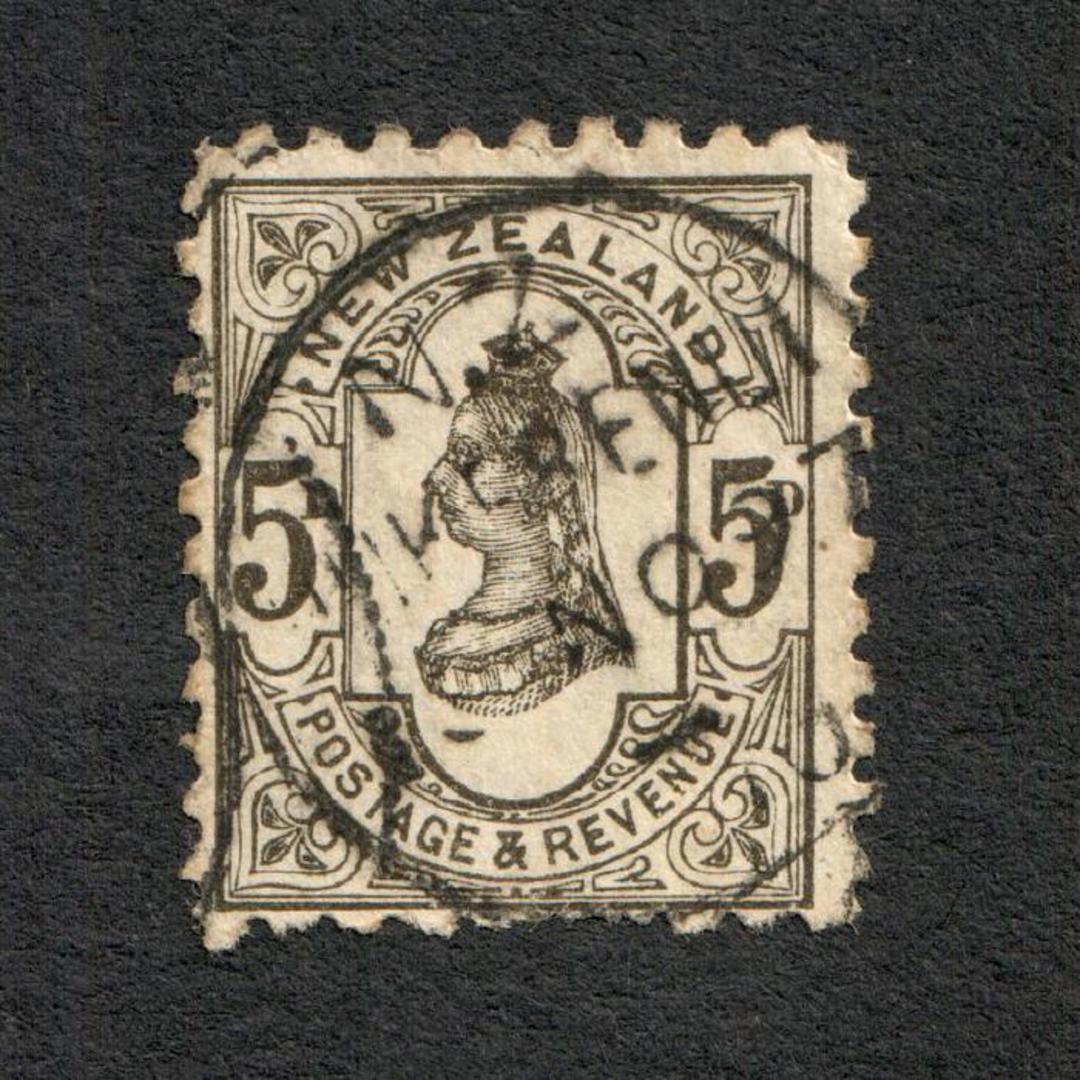 NEW ZEALAND 1882 Victoria 1st Second Sideface 5d Grey. - 10033 - FU image 0