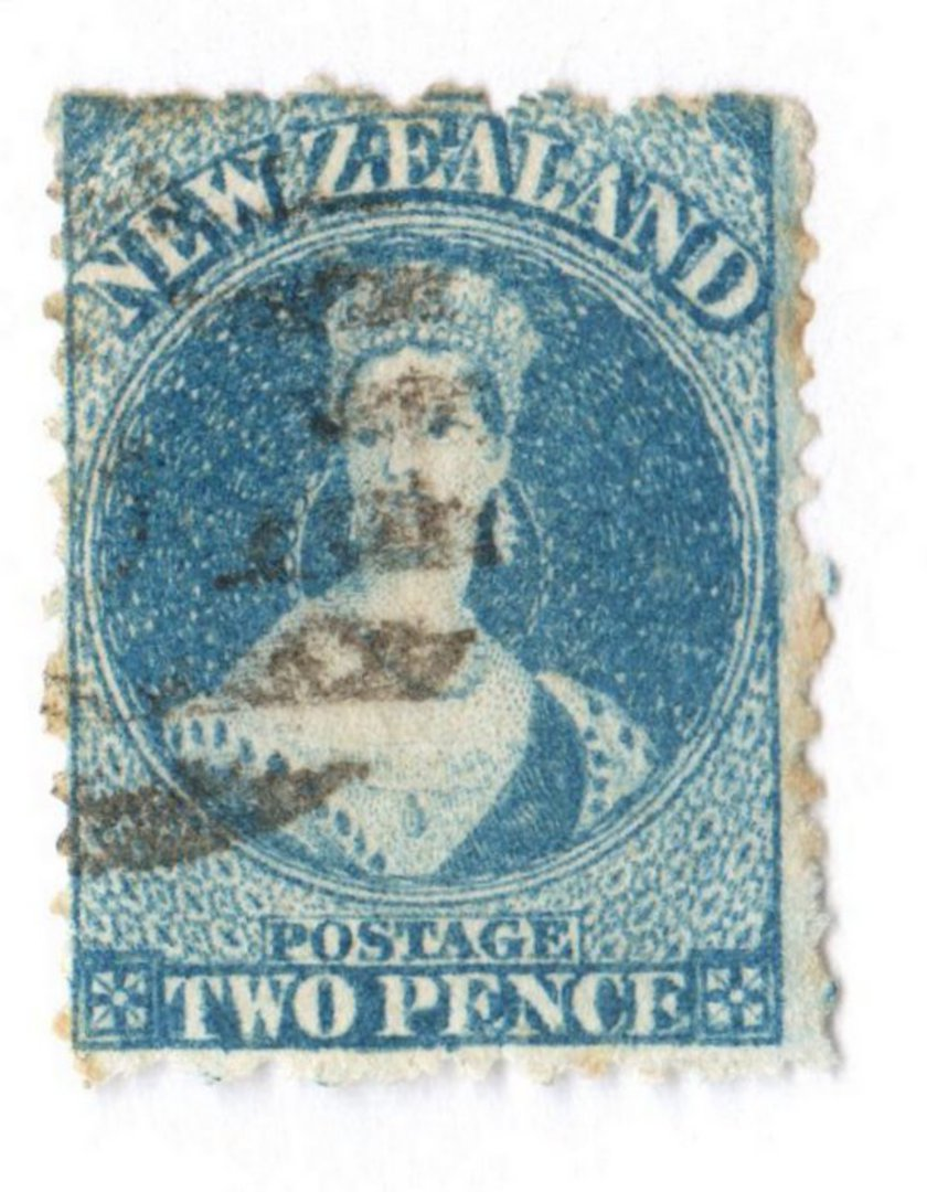 NEW ZEALAND 1862 Full Face Queen 2d Blue. Identified by the vendor as Deep Royal Blue. ..? - 3591 - Used image 0