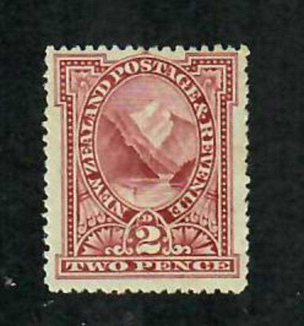 NEW ZEALAND 1898 Pictorial 2d Rosy-Lake. London Print in fine never hinged condition. - 74104 - UHM image 0