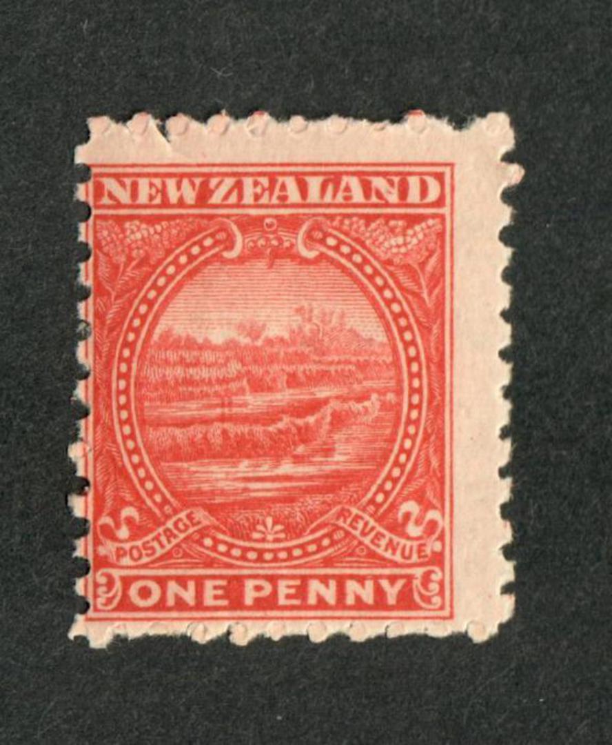 NEW ZEALAND 1898 Pictorial 1d Terraces. - 56 - UHM image 0
