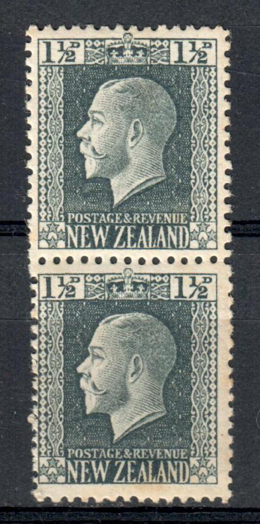 NEW ZEALAND 1915 Geo 5th Definitive 1½d Grey. Two Perf Pair. - 74823 - UHM image 0
