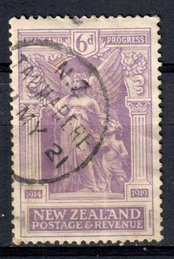 NEW ZEALAND 1920 Victory 6d Purple. Fine A Class cancel  TAUMARERE. RW #5. - 39770 - FU image 0
