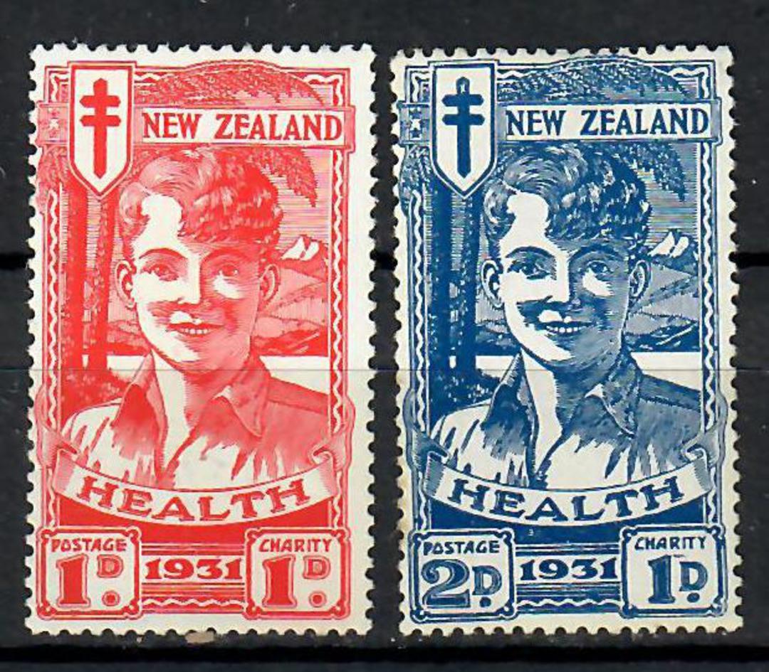 NEW ZEALAND 1931 Red & Blue Boy. Slight toning. - 70662 - UHM image 0