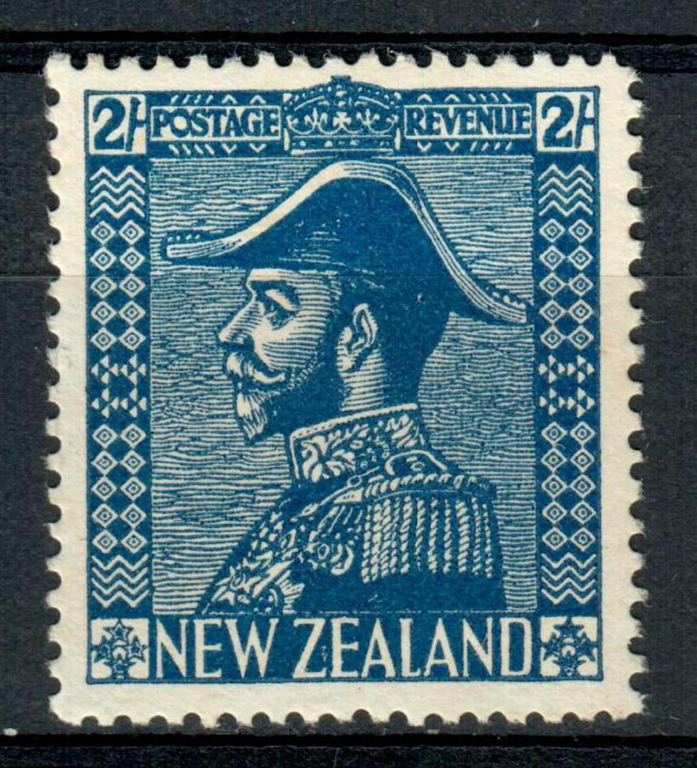 NEW ZEALAND 1915 Geo 5th Admiral 2/- Blue. Very lightly hinged. - 4306 - LHM image 0