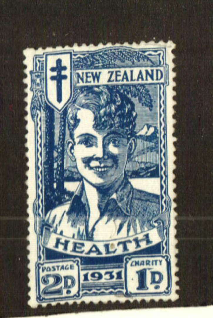 NEW ZEALAND 1931 Blue Boy. A small adhesion on the rear. - 70733 - UHM image 0