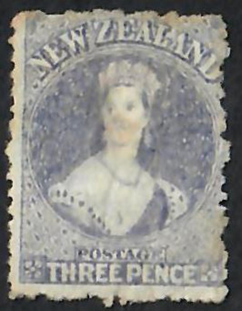 NEW ZEALAND 1862 Full Face Queen 3d Lilac. Mint. No gum as is the practice. - 60042 - MNG image 0