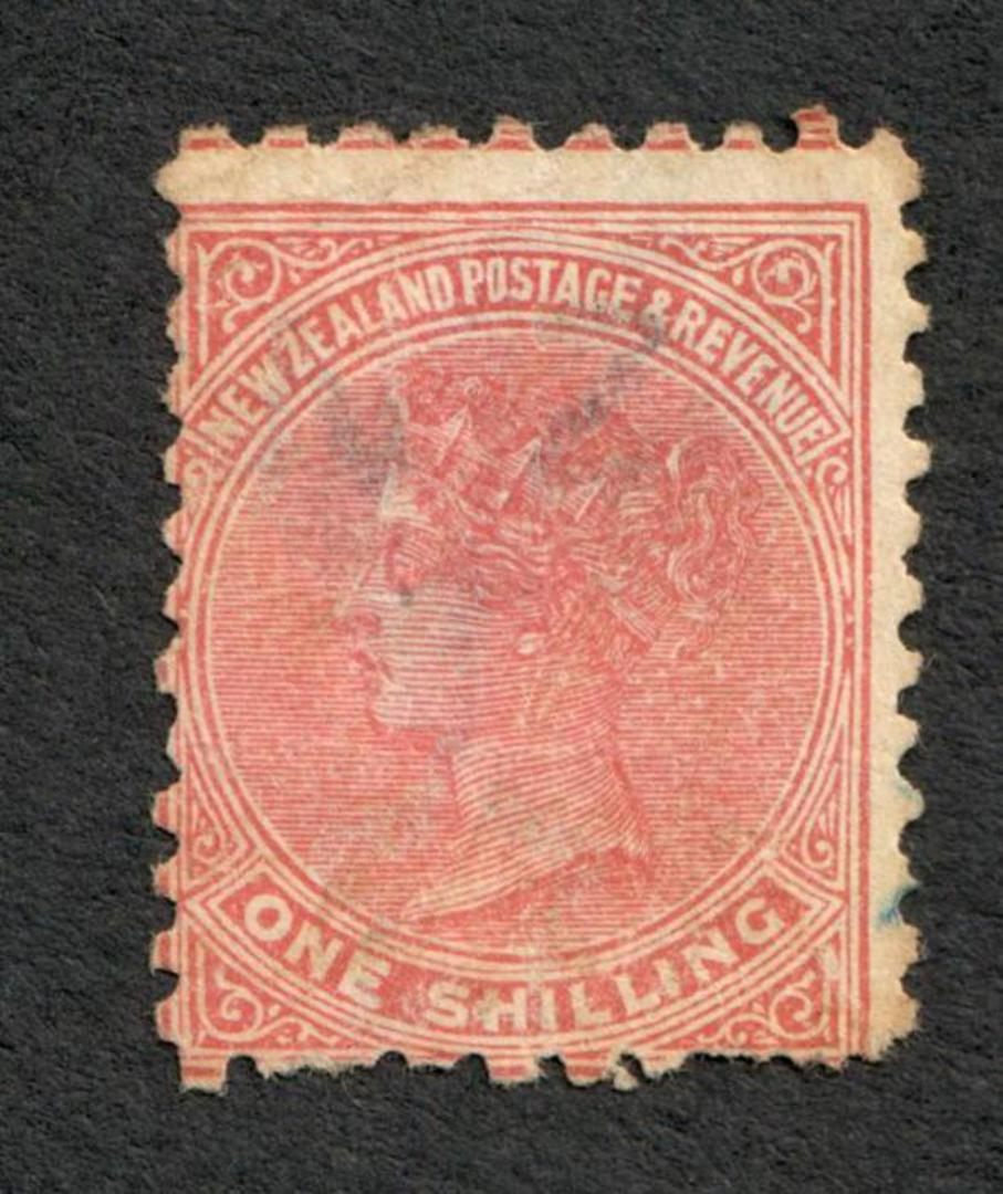 NEW ZEALAND 1882 Victoria 1st Second Sideface 1/- Chestnut. No gum. Thin. Good from the front. - 3542 - MNG image 0