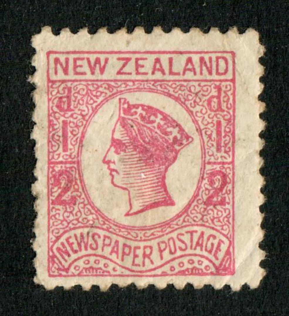 NEW ZEALAND 1873 Newspaper ½d Pale Dull Rose. No Watermark. Perf 10. Perfs down one side a little uncrisp. - 79397 - Mint image 0