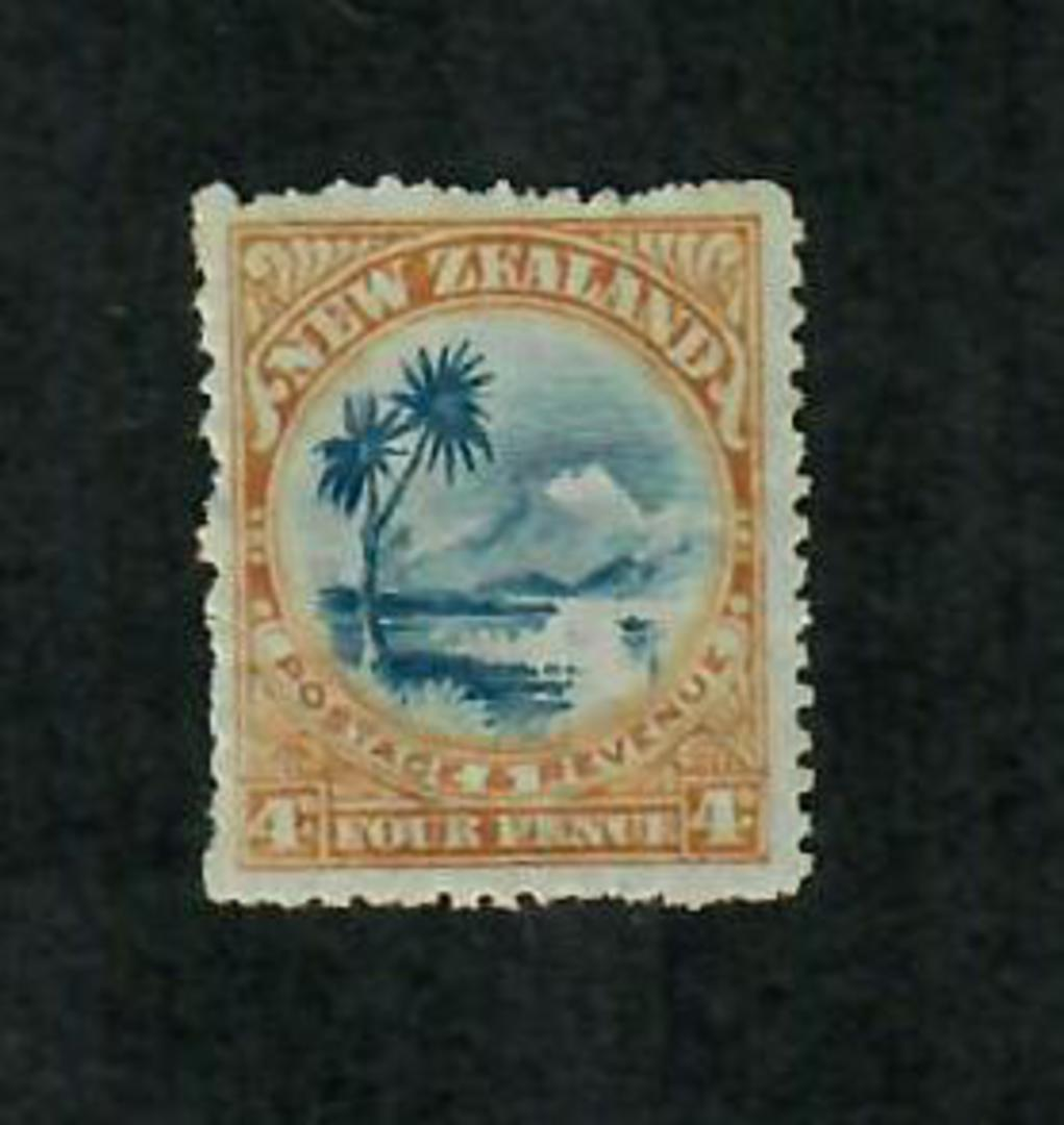 NEW ZEALAND 1898 Pictorial 4d Lake Taupo. Third Local Issue. Perf 14. - 75240 - UHM image 0