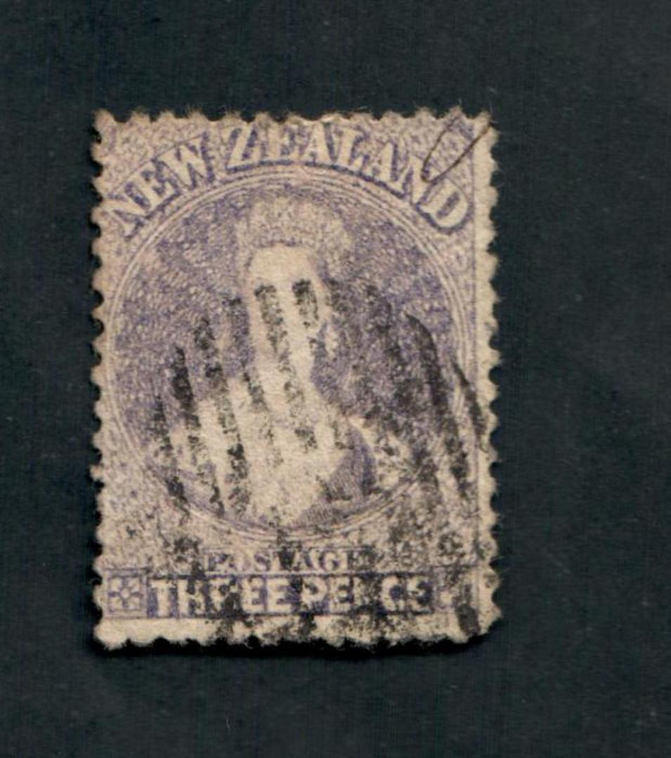 NEW ZEALAND 1862 Full Face Queen 3d Lilac. Perf 12½ at Auckland. - 39194 - Used image 0