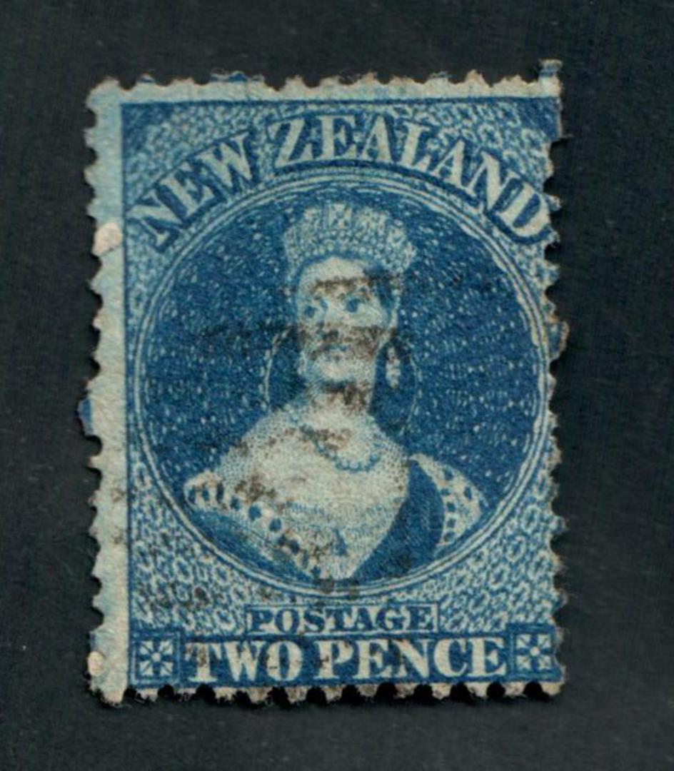 NEW ZEALAND 1862 Full Face Queen 2d Deep Blue. Perf 12½. Excellent copy. - 3536 - FU image 0
