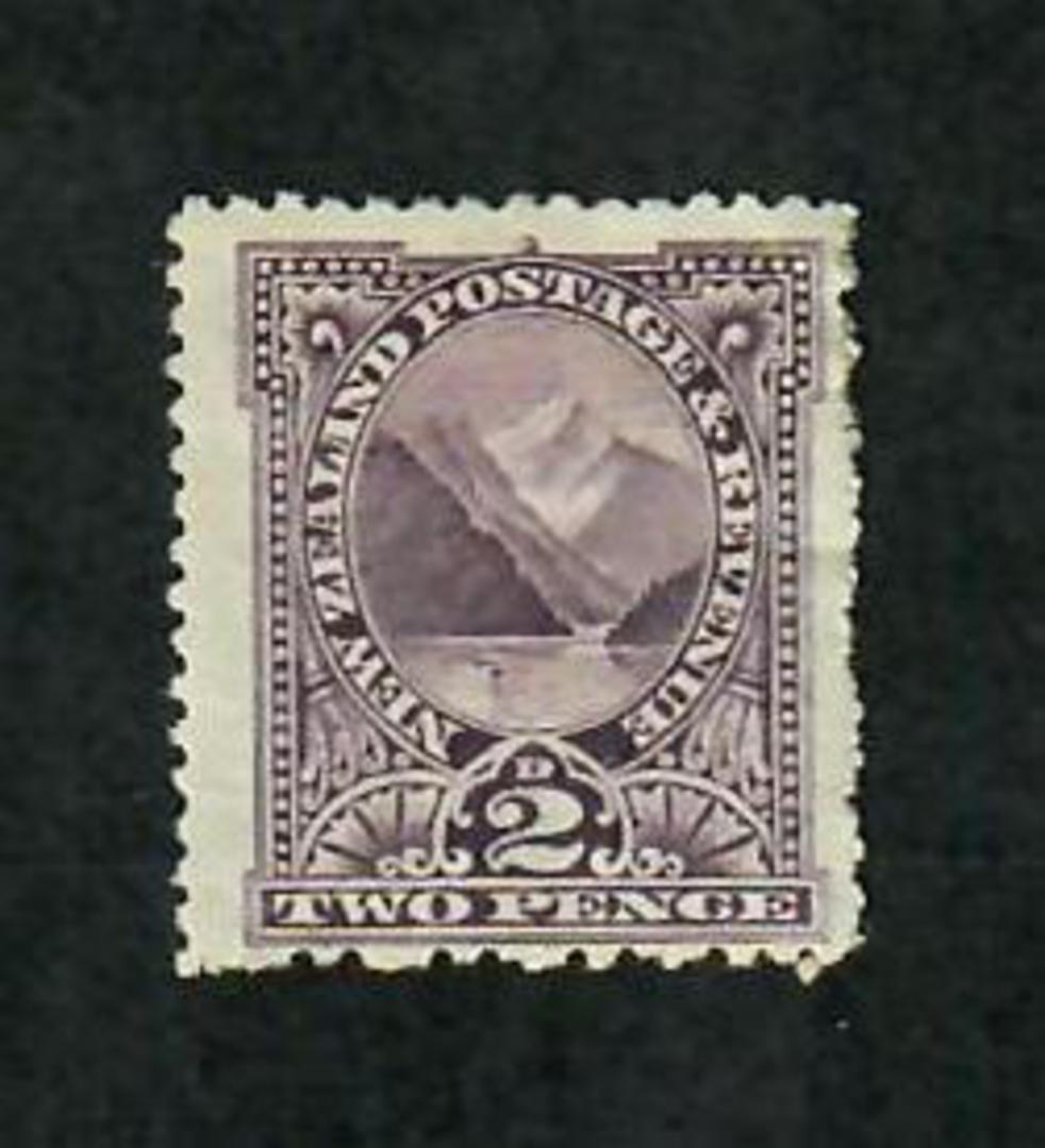 NEW ZEALAND 1898 Pictorial 2d Dull Purple. Mixed Perf. Perf 11 used to correct Perf 14 inaccuracies. - 79731 - LHM image 0