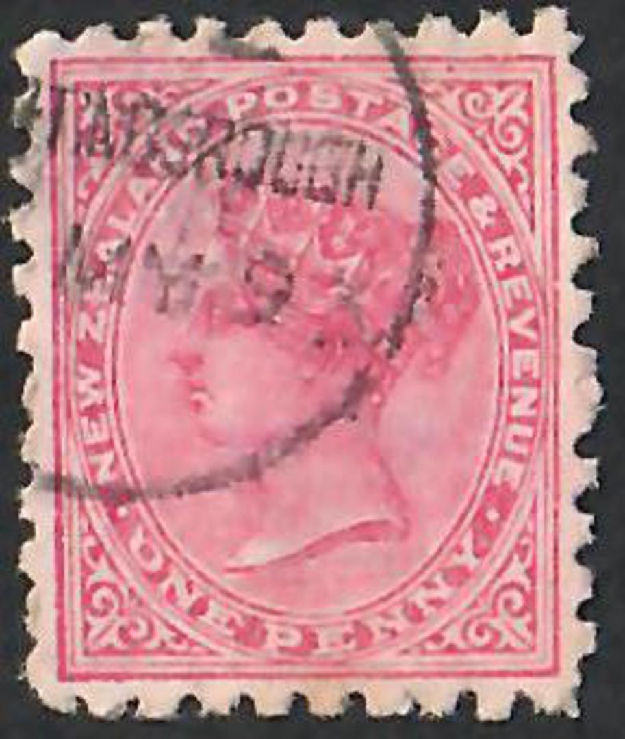 NEW ZEALAND 1882 Victoria 1st Second Sideface 1d Red.  Search North South East or West Sunlight Soap is the Best. Second setting image 0