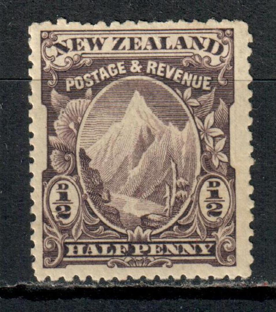 NEW ZEALAND 1898 Pictorial ½d Mt Cook Purple. - 37 - UHM image 0