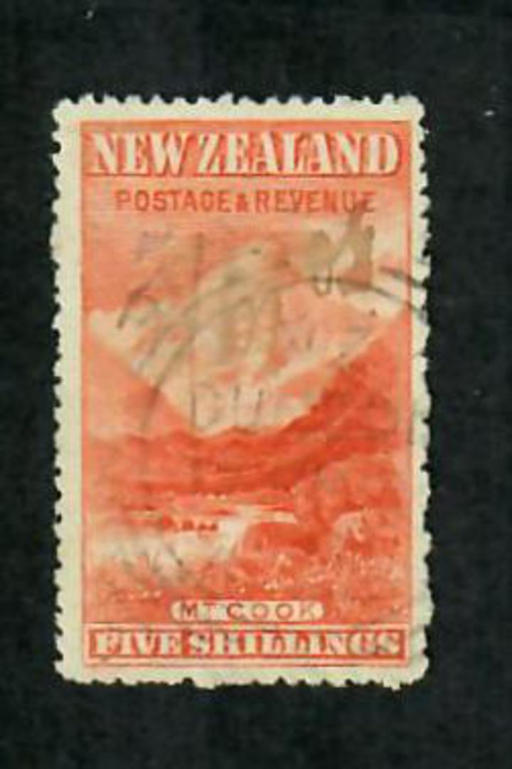 NEW ZEALAND 1898 Pictorial 5/- Cleaned fiscal. Very nice appearance. - 70697 - FU image 0