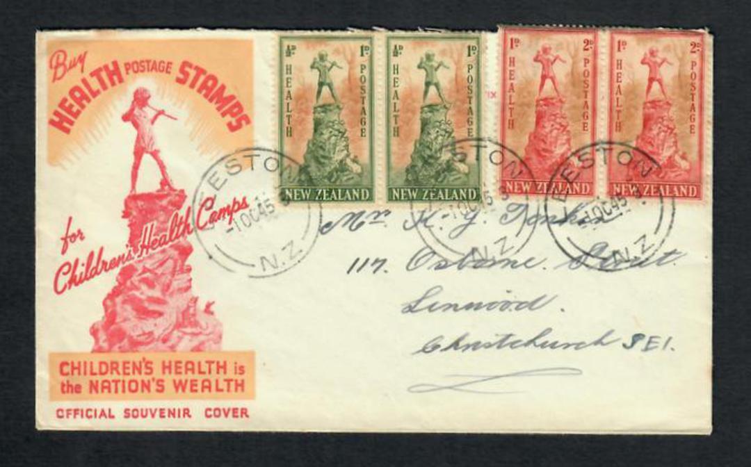 NEW ZEALAND Postmark Christchurch LEESTON. J Class cancel on first day cover. - 31578 - Postmark image 0