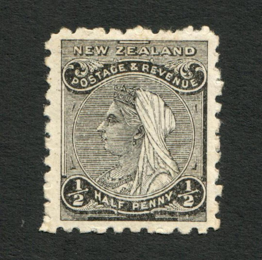 NEW ZEALAND 1882 Second Sideface ½d Grey-Black. Rotary Perf 10. - 4207 - Mint image 0