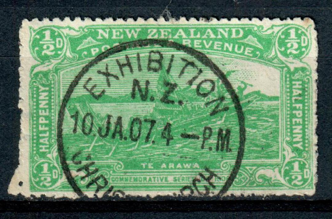 NEW ZEALAND 1906 Christchurch Exhibition ½d Green. Exhibition cancel. - 4357 - VFU image 0