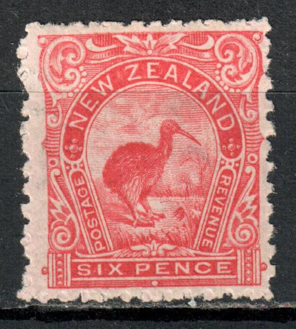 NEW ZEALAND 1898 Pictorial 6d Red Kiwi. - 60 - LHM image 0