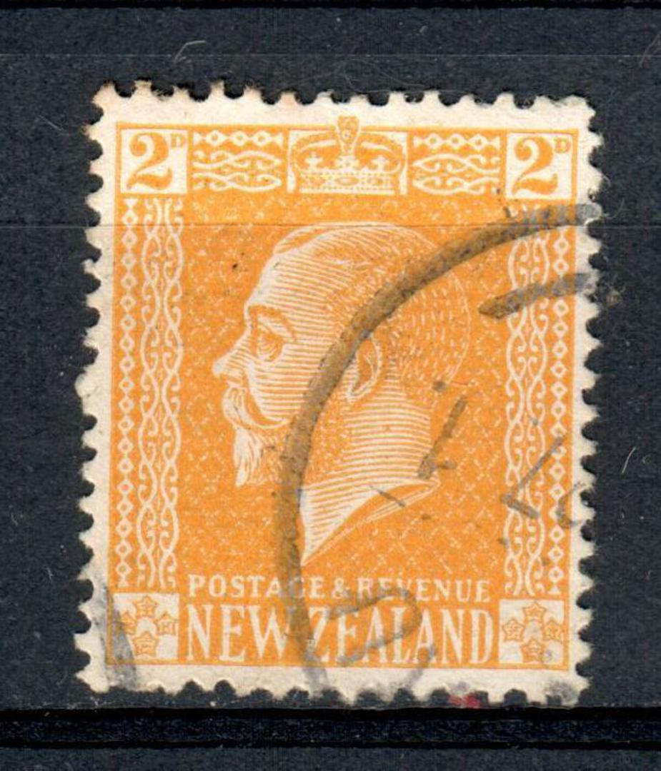 NEW ZEALAND 1915 Geo 5th Definitive Surface 2d Yellow Reversed Cowan Chalky Paper (surfaced on the wrong side) issued in 1927. - image 0