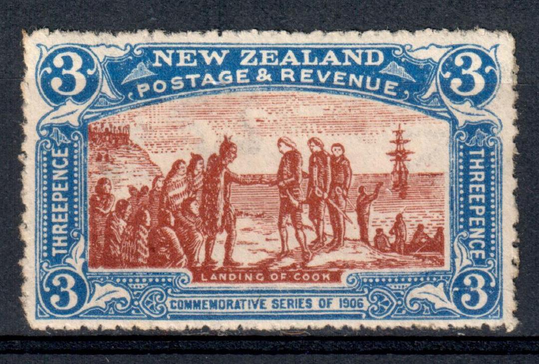 NEW ZEALAND 1906 Christchurch Exhibition 3d Captain Cook. - 68 - UHM image 0
