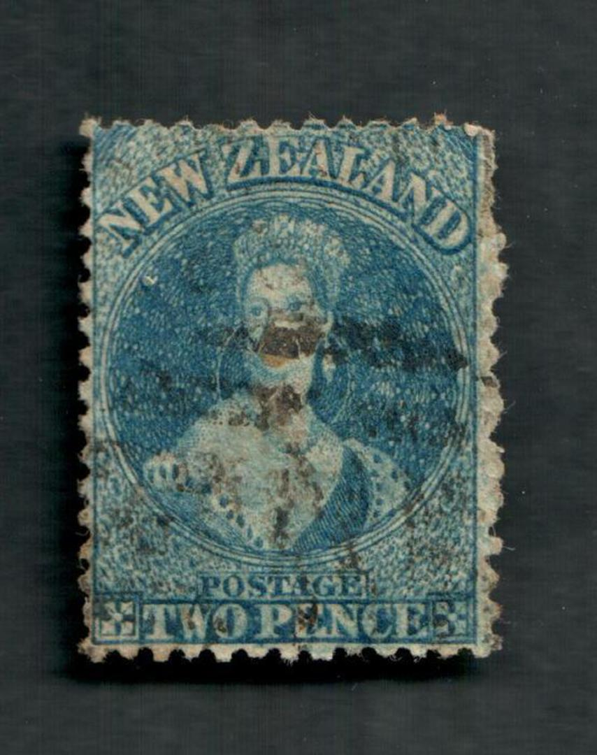 NEW ZEALAND 1862 Victoria 1st Full Face Queen 2d Blue. - 39017 - Used image 0