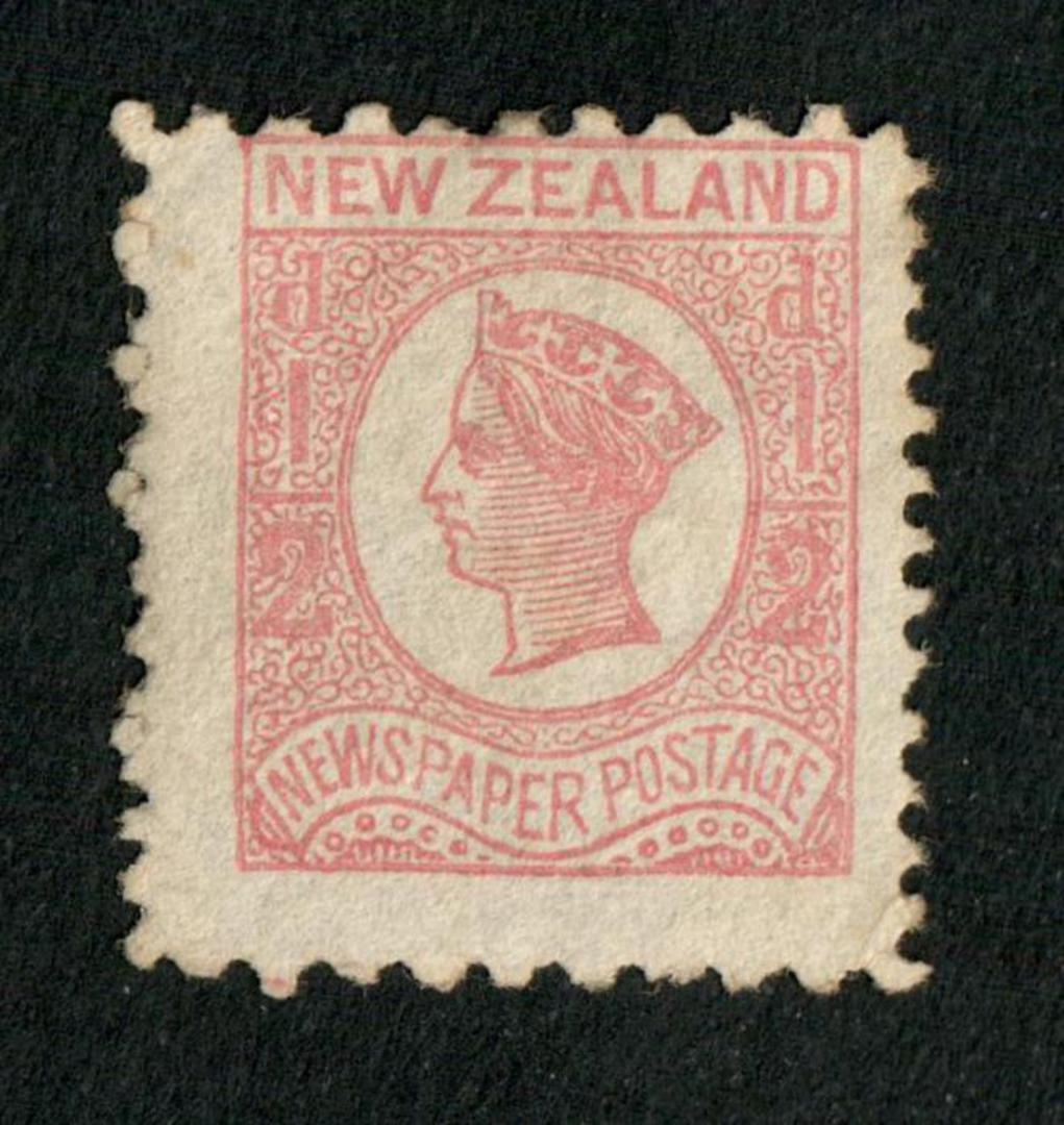 NEW ZEALAND 1873 Newspaper ½d Pale Dull Rose. Watermark NZ. Perf 10x12½. - 79392 - Mint image 0