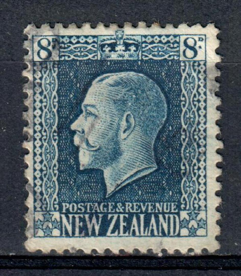 NEW ZEALAND 1915 Geo 5th Definitive 8d Blue. Perf 14x13½. - 39212 - Used image 0