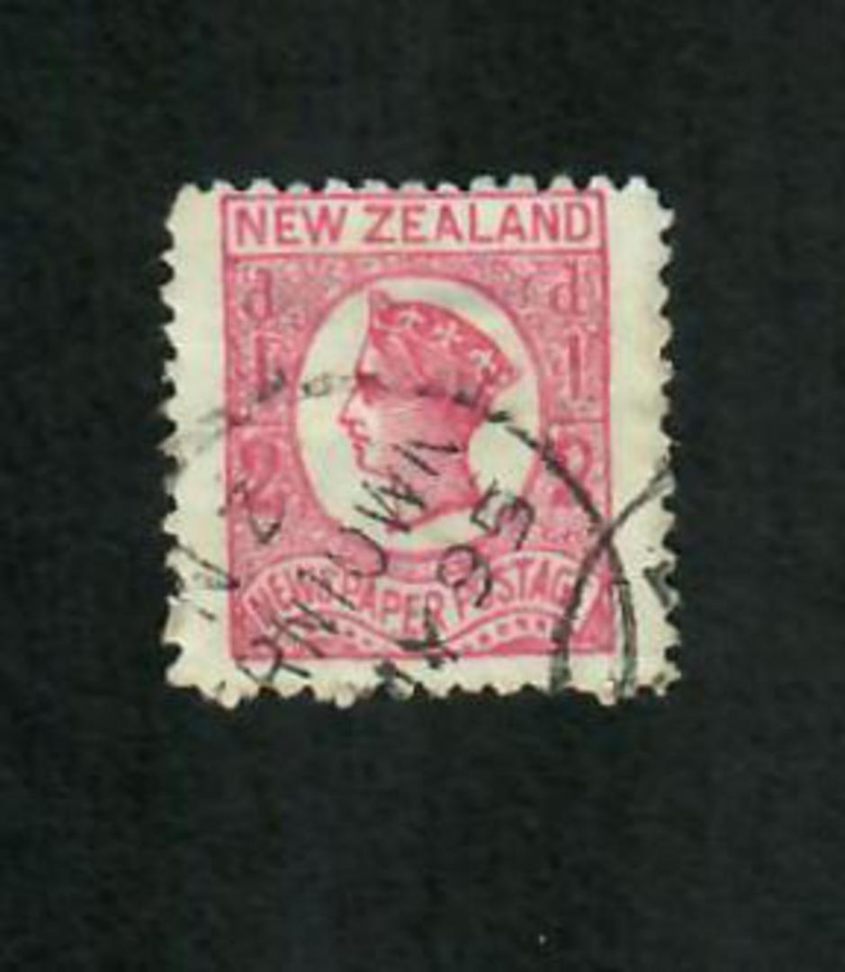 NEW ZEALAND 1873 Victoria 1st Newspaper Definitive ½d Rose. - 10018 - FU image 0