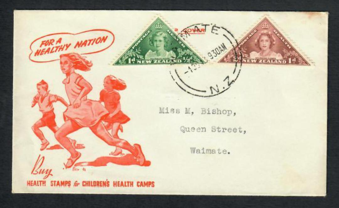 NEW ZEALAND Postmark Timaru WAIMATE. J Class cancel on first day cover. - 31575 - Postmark image 0