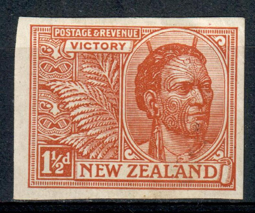 NEW ZEALAND 1920 Victory 1½d Brown. Imperf. - 3527 - Mint image 0