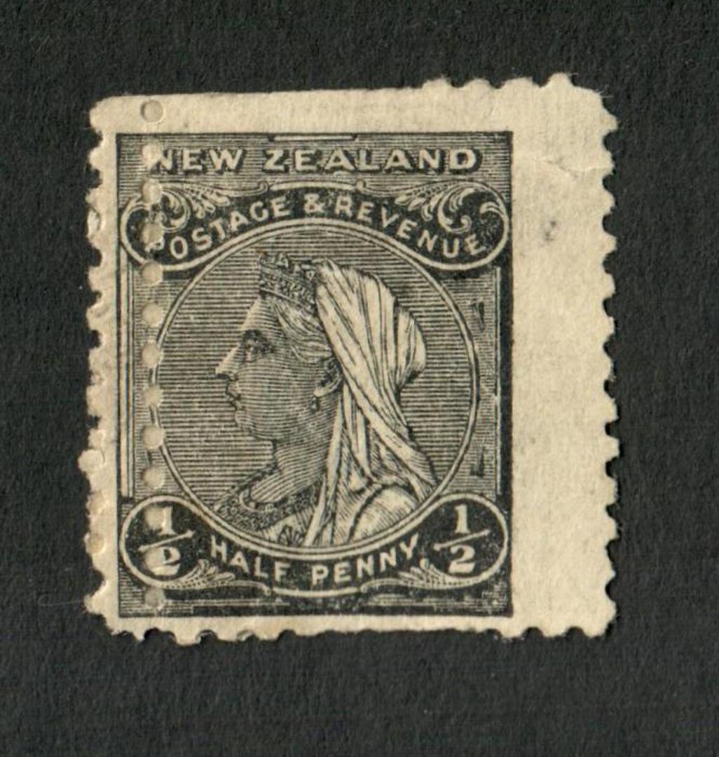 NEW ZEALAND 1882 Second Sideface ½d Black. Rotary Perf 11. Double perfs. - 4213 - Mint image 0