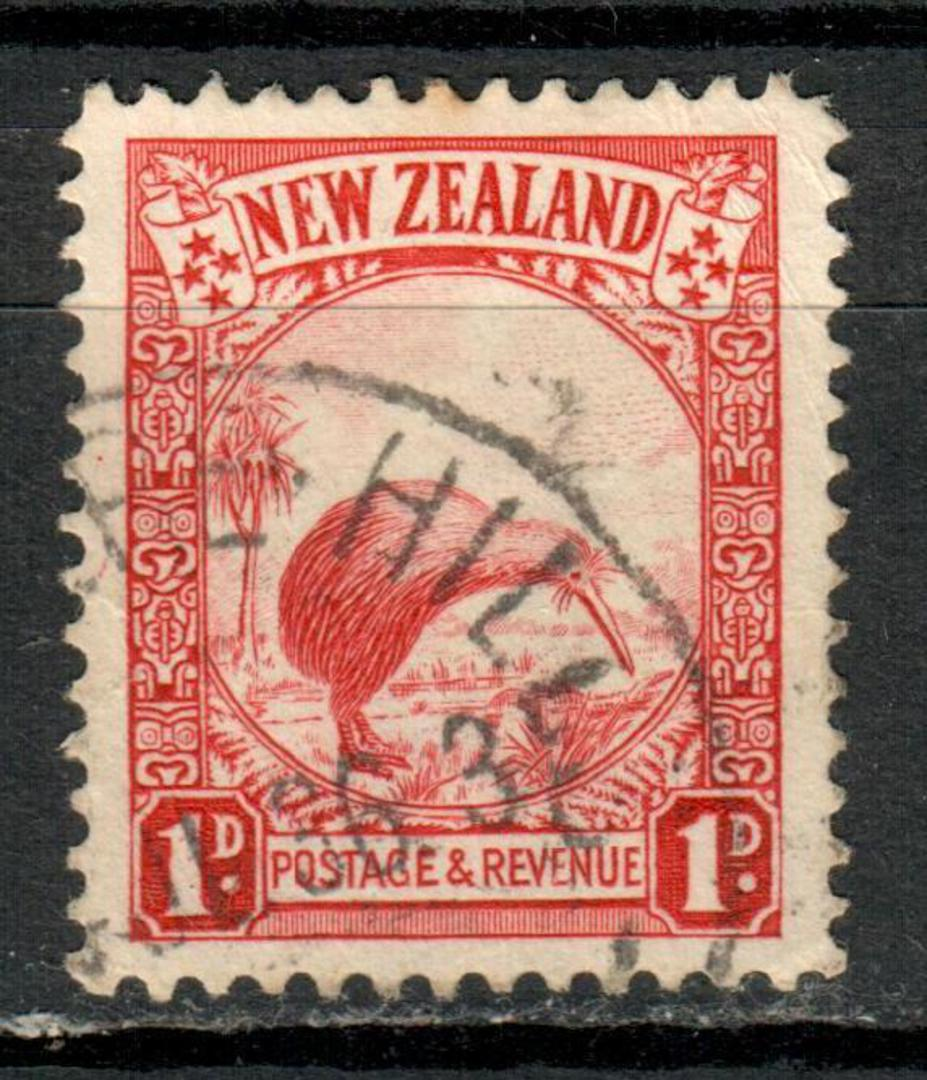 NEW ZEALAND 1935 Pictorial 1d Red. Perf 13½ x14. SG 557b. - 4156 - FU image 0