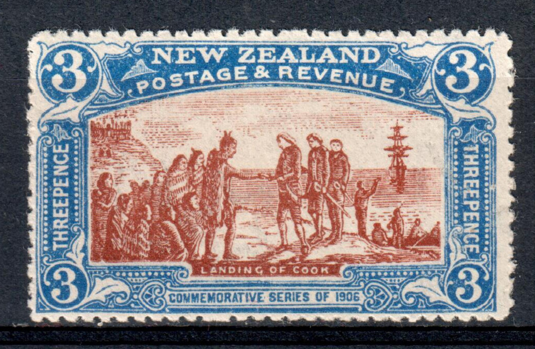 NEW ZEALAND 1906 Christchurch Exhibition 3d Brown and Blue. - 69 - UHM image 0