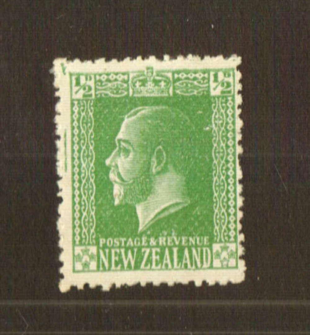 NEW ZEALAND 1915 Geo 5th Definitive ½d Green on Jones paper. - 74792 - Mint image 0