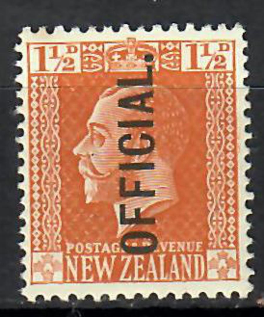 NEW ZEALAND 1915 Geo 5th Official 1½d Brown. Surface. - 70648 - LHM image 0