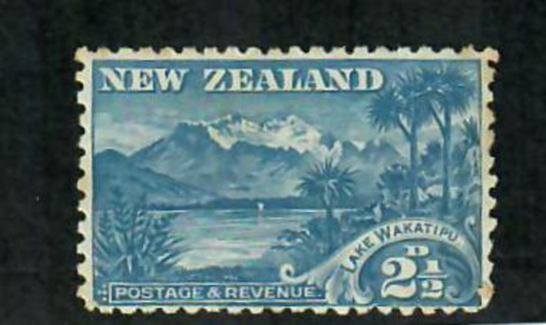 NEW ZEALAND 1898 Pictorial 2½d Wakatipu Dull Blue. First local issue. No Watermark. Perf 11. - 74844 - Mint image 0