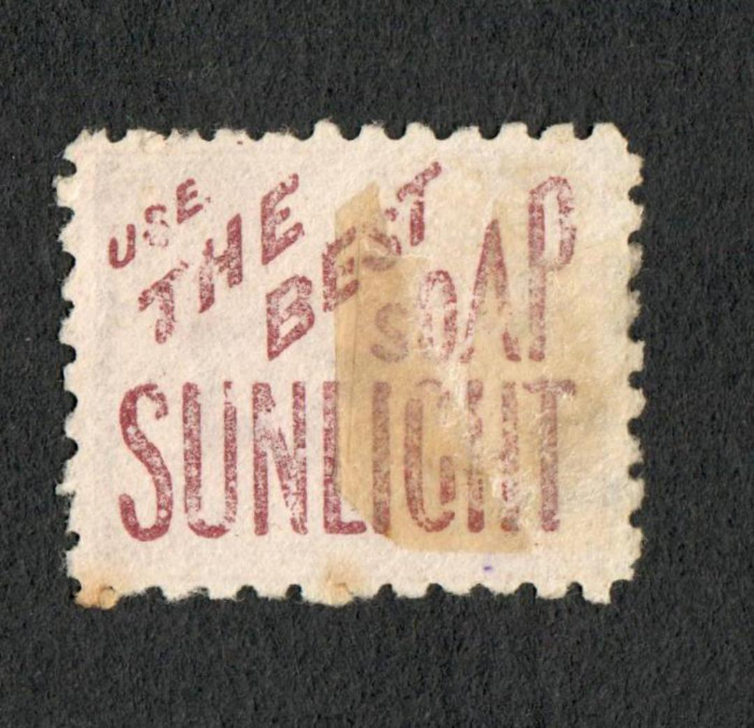 NEW ZEALAND 1882 Victoria 1st Second Sideface 1/- Red-Brown with advert 3rd setting in Red. Use the Best Soap Sunlight. - 75112 image 1