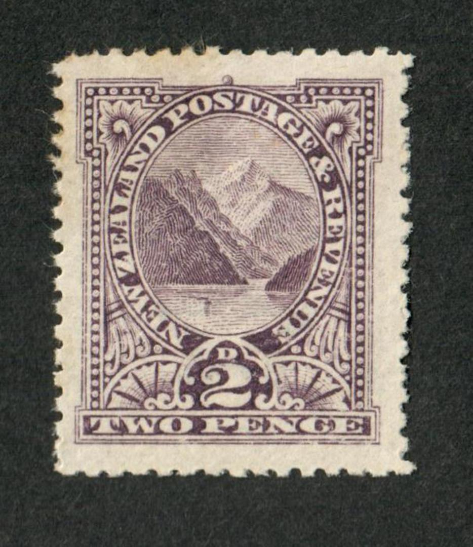 NEW ZEALAND 1898 Pictorial 2d Purple. - 58 - LHM image 0