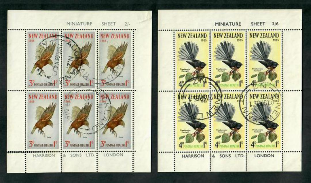 NEW ZEALAND 1965 Health. Set of 2 miniature sheets. - 50939 - FU image 0