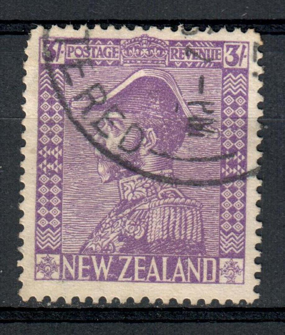 NEW ZEALAND 1926 Geo 5th Admiral Definitive 3/- Purple. - 10143 - FU image 0