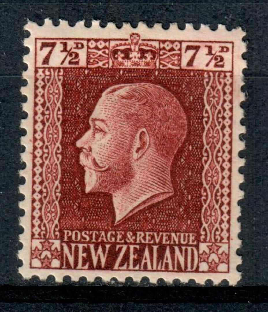 NEW ZEALAND 1915 Geo 5th Definitive 7½d Brown. - 4302 - Mint image 0