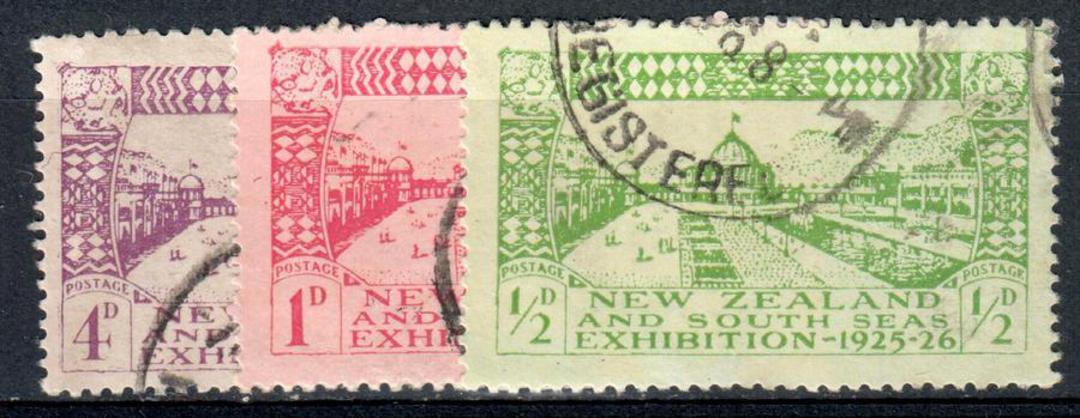 NEW ZEALAND 1925 Dunedin Exhibition. Set of 3. - 75082 - FU image 0