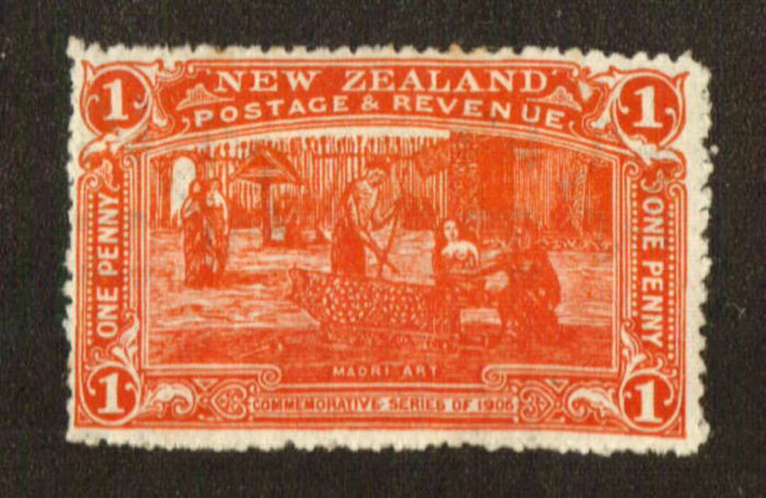 NEW ZEALAND 1906 Christchurch Exhibition 1d Red. Nice bright colour. Two small rust spots. - 71305 - LHM image 0