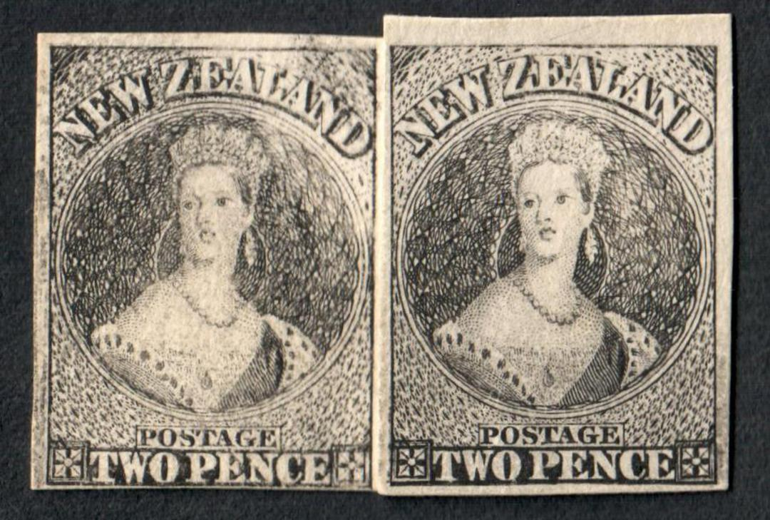 NEW ZEALAND Full Face Queen 2d. 2 proofs or whatever. - 60100 - image 0