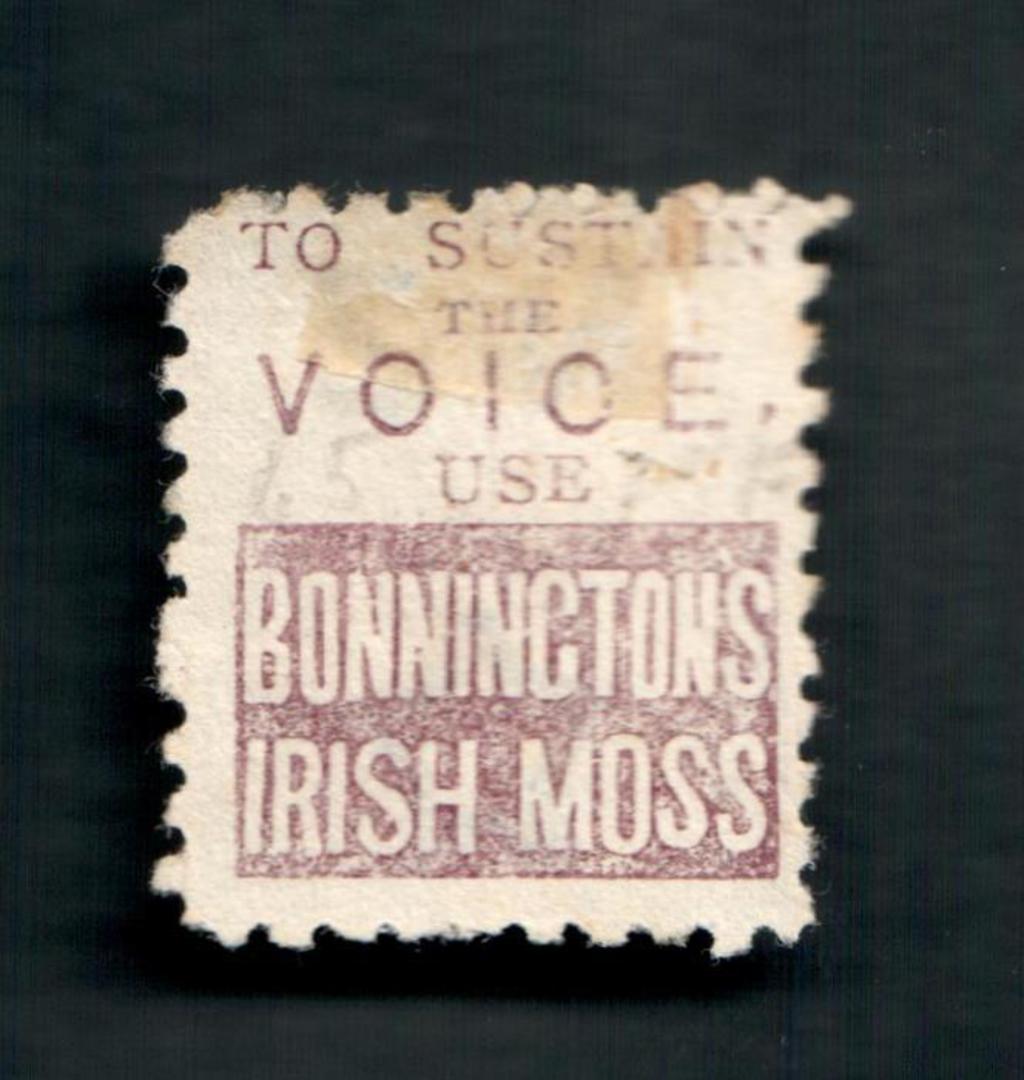 NEW ZEALAND 1882 Victoria 1st Second Sideface 8d Blue. Perf 10. 3rd setting in Brown-Purple. Bonningtons Irish Moss. - 4005 - FU image 1
