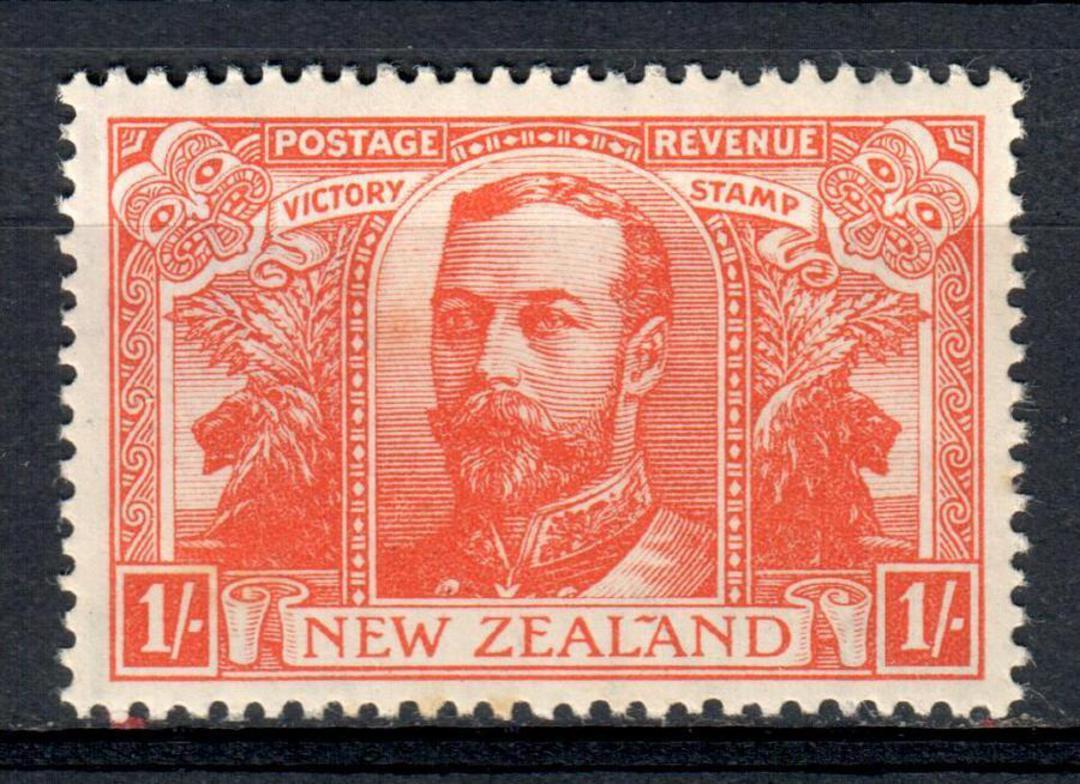 NEW ZEALAND 1920 Victory 1/- Orange. Slight foxing. - 39785 - UHM image 0