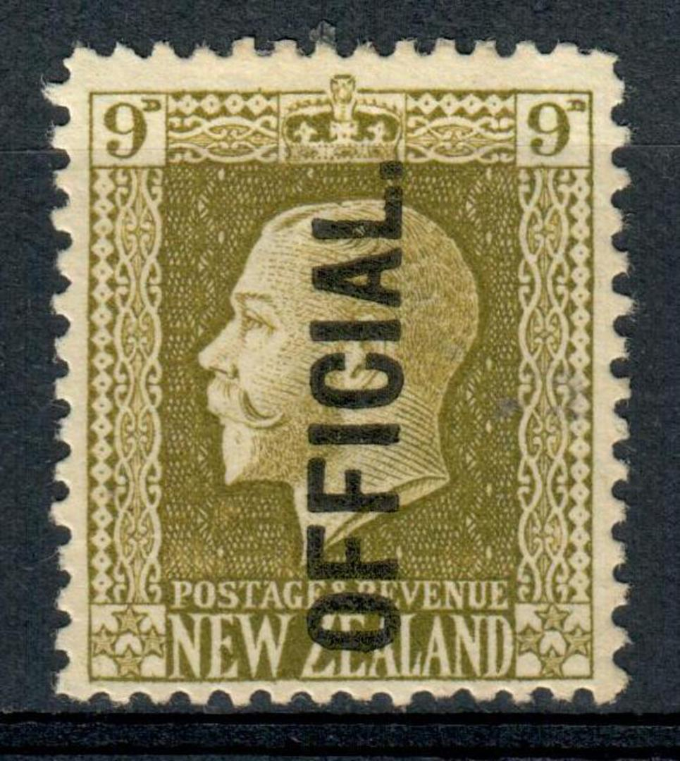 NEW ZEALAND 1915 Geo 5th Official 9d Olive. - 3532 - MNG image 0