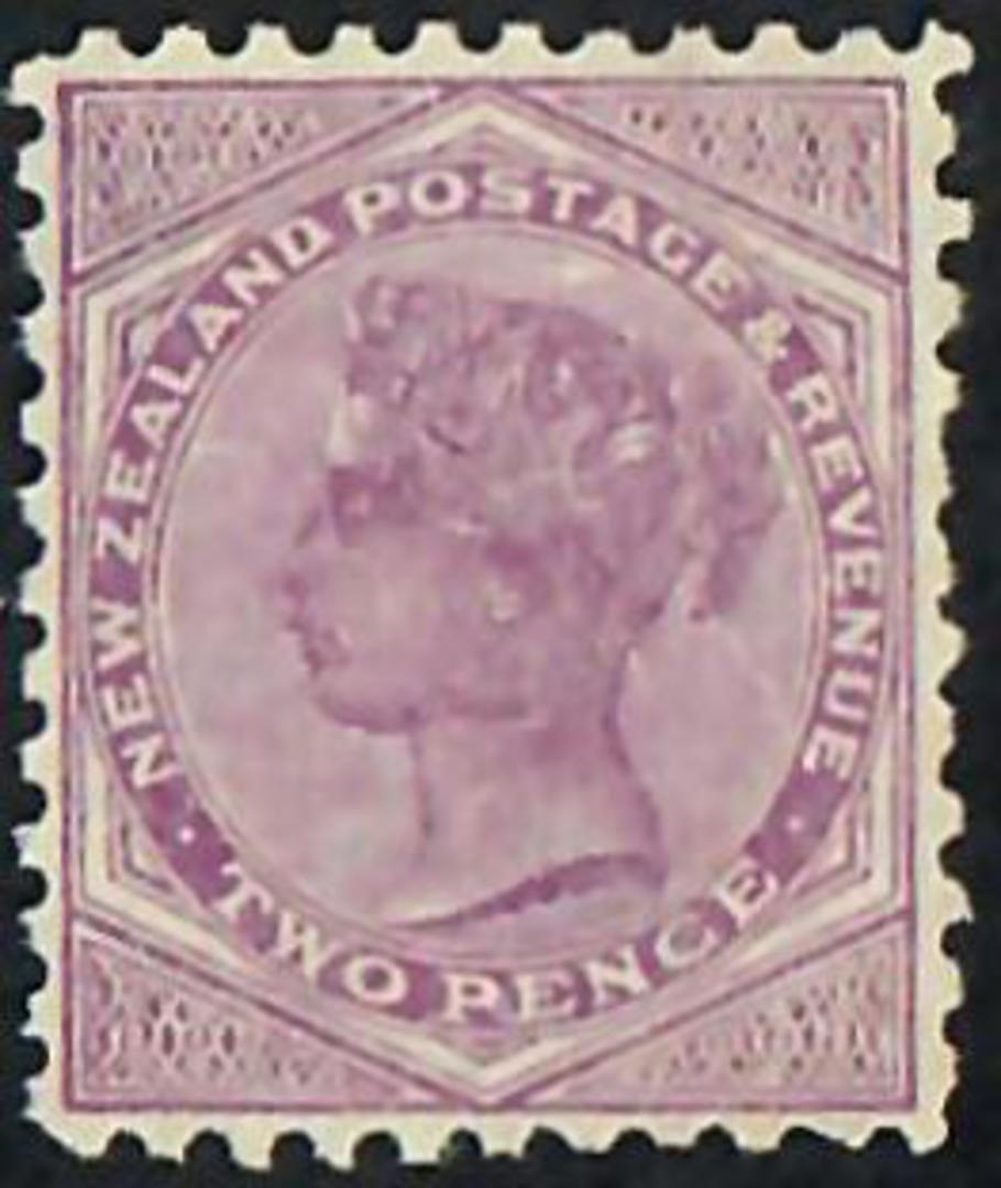 NEW ZEALAND 1882 Victoria 1st Second Sideface 2d Purple. Perf 11. - 72306 - Mint image 0