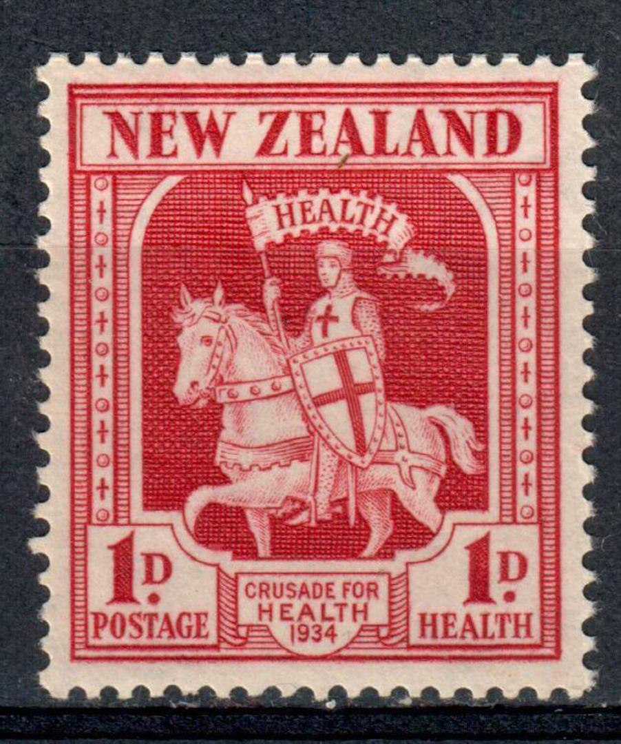 NEW ZEALAND 1934 Health Crusader 1d Carmine. - 19234 - UHM image 0